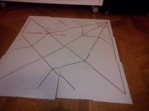 patrón en folios